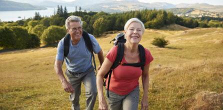 Senior couple on a hike